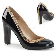 Pump Shoes, Shoes Heels, Platform Shoes, Court Shoes, Basson, Closed Toe Shoes, Chunky Heel Pumps, Colorful Shoes, Satin Pumps