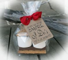 I Do BBQ Bridal Shower Favors 25 - 100 DIY Bags/Favor Tags w/Ribbon - S'Mores Bridal Shower Favors- I Do Bbq } Wedding Favor - 2 bag sizes