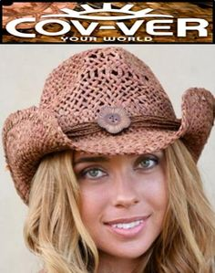 2a5b0ff17b09b Cov-ver Shapeable Maize Straw Cowboy Hat - Clay Stain. Hats 45230  New Conner  Hats Women ...