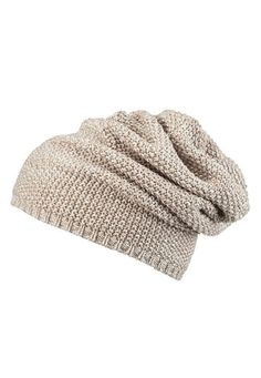 oatmeal Marled slouchy hat (original price, $14) available at #Maurices