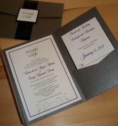 Custom Pocketfold Wedding Invitations by InvitationsbyEmily
