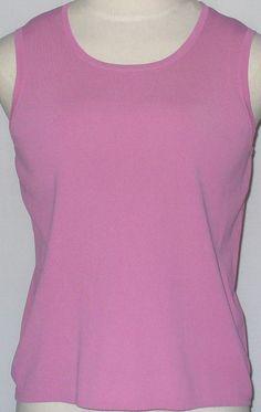 b8b07332a3c6f1 Choices L Mauve Pink Tank Top Sleeveless Shirt Dusty Rose Stretch Knit  Shell  Choices