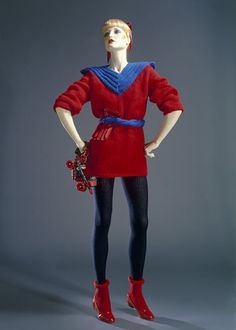 Knitted roller disco ensemble by Paul Howie, Great Britain, 1979 l Victoria and Albert Museum #knitting #retro