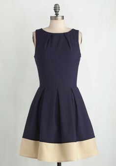 Luck Be a Lady Dress in Navy Contrast From The Plus Size Fashion At www.VinageAndCurvy.com