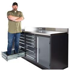 Custom Shop Metal Folding Storage Box for Auto Body Tool Storage