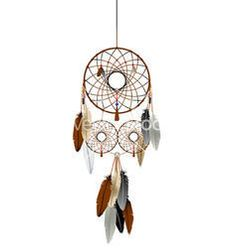 Dream Catcher Wall Hanging - Brown Feather Dream Catcher Wholesaler from Delhi Buy Dream Catcher, Dream Catcher Vector, Feather Dream Catcher, Dream Catchers, Ring Vector, Three Rings, Wall, Crafts, Image
