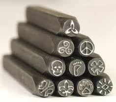 20 piece Iron steel Vintage Metal design stamp jewelry tools wax