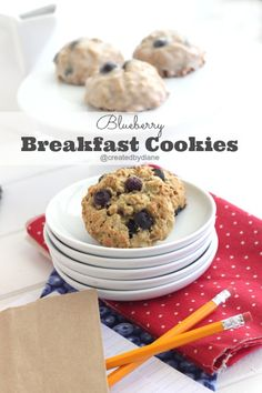 Blueberry Oatmeal Breakfast Cookies - Selected for my Healthy Meals for Kids board, sponsored by Del Monte