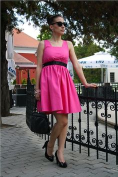 Lady in a pink dress (by Jovana Bovan) http://lookbook.nu/look/3567501-Lady-in-a-pink-dress