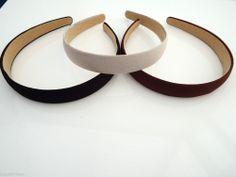 2 cm Matt Satin / Suede Look Hair band Alice Band Headband 3 colours