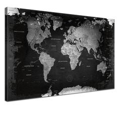 toile photo carte du monde world map pinterest. Black Bedroom Furniture Sets. Home Design Ideas