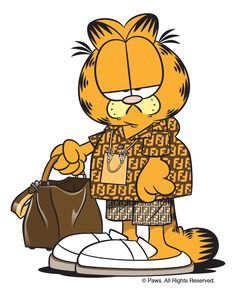 Garfield the Cat is the World's Most Underrated Fashion Icon Mickey Mouse Art, Mickey Mouse Wallpaper, Cartoon Wallpaper Iphone, Disney Wallpaper, Garfield Cartoon, Garfield And Odie, Garfield Quotes, Dope Cartoons, Dope Cartoon Art