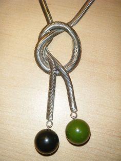 Jakob Bengel Art Deco Bakelite Chrome Necklace 1930s