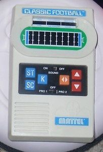 all things 70s | All Things 70's & 80's / Mattel CLASSIC FOOTBALL Electronic Game 2000 ...