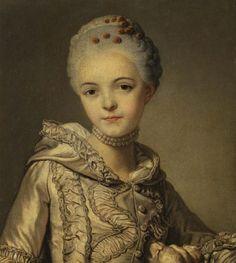 History of fashion in art & photo (1760-1775 Alexander Roslin - Lady in a Grey Dress...)