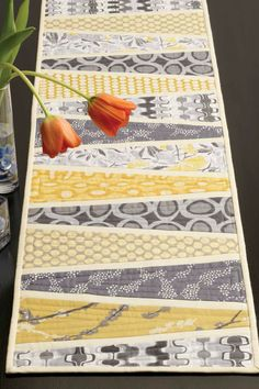Reflected Wedges Table Runner Quilt Pattern - EP8358 by QuiltingDailyShop on Etsy https://www.etsy.com/listing/225931401/reflected-wedges-table-runner-quilt