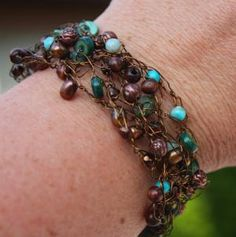 15 Fabulous Ways to Incorporate Braids into Your Crochet: Braided, Beaded Wire Crochet Jewelry