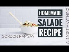Today We got the Most wanted thing in any dining table, you guessed it right ! here we got 4 Stunning salad recipe fo. Salad Recipes, Vegan Recipes, Recipe Fo, Chef Gordon Ramsay, Baking Videos, Charcuterie, Dinner Recipes, Vegans, Homemade