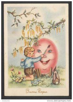 Buona Pasqua -  viaggiata 1955