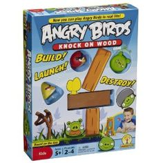 "A loves Angry Birds! ** Angry Birds Knock on Wood Game - Mattel - Toys ""R"" Us Angry Birds, Knock On Wood, Knock Knock, Toys For Boys, Games For Kids, Family Games, Flappy Bird, Wood Games, Mattel"