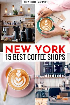 NYC Coffee Shops | NYC Food Guide | NYC Cafes | NYC Travel Guide | 15 Prettiest places in NYC | 15 Hidden Gems In NYC | how to travel in NYC | NYC Instagram Spots | NYC bucket list locations | traveling in NYC like a pro | best travel photos in NYC | Instagram spots in NYC | Cutest cafes in NYC | best NYC photo locations | best NYC streets | best things to do in NYC | NYC itinerary | NYC cafes to visit | New York City travel Guide | New York City Travel Tips | NYC itinerary #NYC #NewYorkCity Usa Travel Guide, Travel Tips, Travel Usa, Travel Destinations, Travel Guides, Best Coffee Shops Nyc, Nyc Itinerary, Cafe Nyc, Nyc Streets