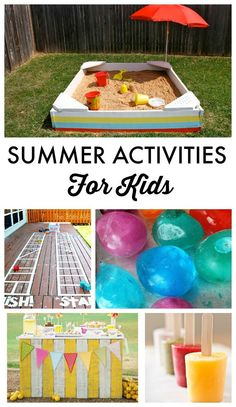 Top 10 tuesday: summer activities for kids kid ideas дети Summer Fun For Kids, Summer Diy, Summer Crafts, Diy For Kids, Crafts For Kids, Kids Fun, Summer Ideas, Outdoor Activities For Kids, Outdoor Games