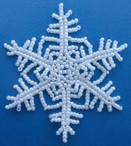 Classic Beaded Snowflake # 2 Pattern