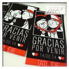 Gracias por venir... Imanes para dos románticos tortolitos. hola@invita-me.com.ar