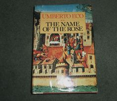 Vintage The Name of the Rose by Umberto Eco, 1983 HC/DJ Book, Good Shape!