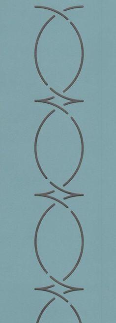 """Egg & Dart Border 2.5"""" - The Stencil Company"""