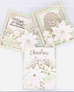 Poinsettia Cards, Christmas Poinsettia, Stampin Up Christmas, Christmas Cards To Make, Noel Christmas, Xmas Cards, Handmade Christmas, Holiday Cards, Christmas Crafts