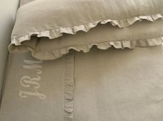 Linen Crib  bedding gender neutral- gathered skirt and 4 side bumper Nursery bedding on Etsy, $250.00
