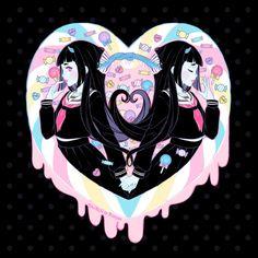 Pastel goth girls