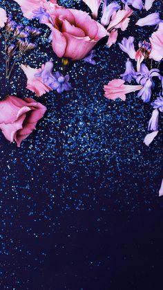 Pink Glitter Roses iPhone 6 Wallpaper