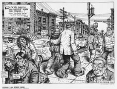 """""""Me 'n' Sweetie Was Walkin' Down the Street…"""" by Robert Crumb,from the """"Portfolio of Underground Cartoonists,"""" published by Schanes and Schanes, 1980."""
