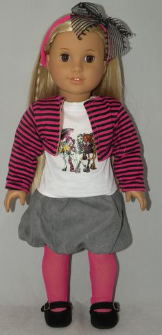 "Doll Clothes Handmade Fit American Girl 18/"" in Halloween Winter Enchantress 5pcs"