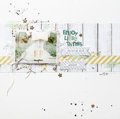 """Me encanta éste estilo en el diseño """"Scrapbooking: Enjoy little things"""""""