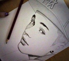 I wouldn't say this is my best Drawing ofJustin Bieber but this as just a rough Drawing and only took an hour
