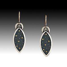 """""""Night Sky Earrings""""   Silver Earrings  $ 295"""
