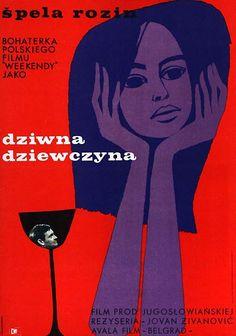 JANCZEWSKA: Dziwna dziewczyna - vintage Polish movie poster