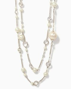 charming charlie   Pearl Tinsel Necklace   UPC: 450900172787 #charmingcharlie