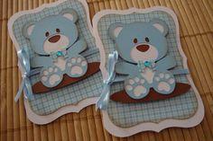 convite urso azul