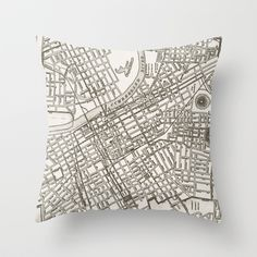 Buy Nashville Map by Zeke Tucker as a high quality Throw Pillow. Worldwide shipping available at Society6.com. Just one of millions of products available.
