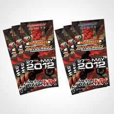 Ticket design for Round 4 of the 2012 Maxxis British Motocross Championships held at Milton MX Park Northampton