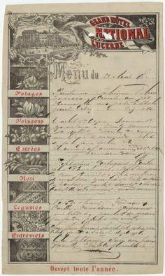 Grand Hôtel National Lucerne, menu, August 22, 1887 - See more at: http://digital.library.unlv.edu/objects/menus/6095#sthash.yeqSSdGo.dpuf