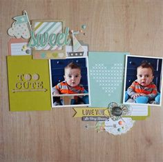 Sweet *Simple Stories* - Scrapbook.com - Made with Simple Stories supplies.