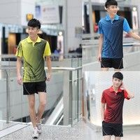 NEW #Men's #badminton clothing suits running #sportswear and leisure clothing 3 Colors 6 Size K_SMA010