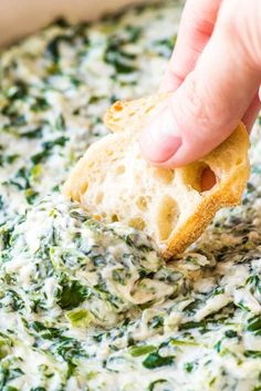 24 Affordable Recipes To Make For Your Next Summer Party Homemade Spinach Dip, Baked Spinach Dip, Cream Cheese Spinach, Creamy Spinach Dip, Frozen Spinach, Cream Cheeses, Spinach Salad, Cooking For A Crowd, Cooking On A Budget