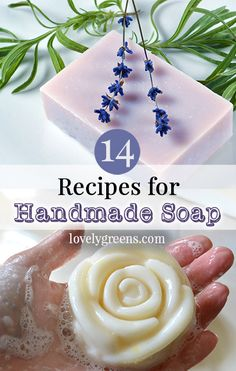 14 Recipes for Handmade Natural Soap -- includes recipes for goat milk soap, natural rose soap, tallow soap, and how to felt soap Homemade Skin Care, Homemade Beauty Products, Diy Skin Care, Soap Making Recipes, Homemade Soap Recipes, Felted Soap, Rose Soap, Protein, Paleo