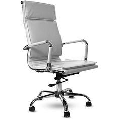 Cadeira Presidente Office Valencia Alta Branca - Rivatti